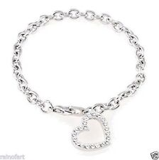 Heart Bracelet Made With Swarovski Crystal Love Cute Charming Elegant Chic Gift