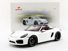 Spark 2016 PORSCHE BOXTER SPYDER WHITE  in 1/18 Scale New! In Stock!