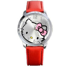 Woman Girls Childeren Kids Teens Watch Hello Kitty Red Wristwatch