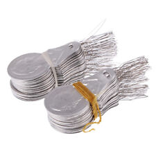 4 Sizes Long Hand Sewing Needles and 100 Wire Loop DIY Needle Threader Tools