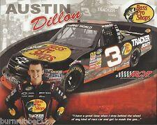 "2011 AUSTIN DILLON ""BASS PRO SHOPS TRACKER RCR"" #3 NASCAR TRUCK SERIES POSTCARD"