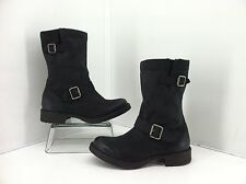 Abound Wesley Black Leather Mid-Calf Motorcycle Boots Size 7