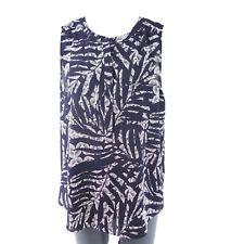 NYDJ Not Your filles jeans pour femmes Blouse Haut Taille S 36 bleu motif NP 89