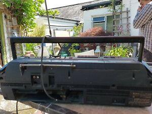 Vintage retro  1980Hitachi 3D80E super woofer twin drive ghetto blaster boombox