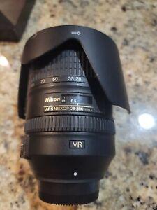 Nikon AF-S FX NIKKOR 28-300mm f/3.5-5.6G ED VR Zoom Lens & Hood