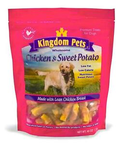 Kingdom Pets Premium Dog Treats, Chicken & Sweet Potato Jerky Twists, 48-Ounce.