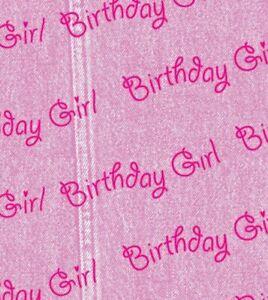 "Birthday Girl Printed Tissue Paper 20"" x 30"" 500 x 750mm 18gsm"
