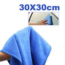 Blue Microfiber Towel New Car Dry Cleaning Cleaner Terry Cloths Bulk 30x30cm