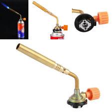 New Camping Welding Gas Brass Torch Blowtorch Flame Gun Fit Cheap Butane Can