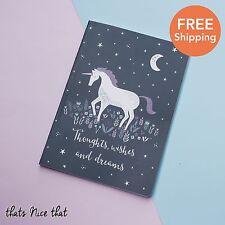 A5 Unicorn Notebook Fun Gift Sketch Journal Diary Note Book Kids Pink Horse Cute