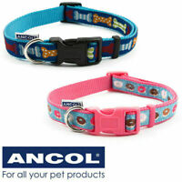 Dog Collar Ancol Puppy Weather-proof Quick Release Buckle 3 Sizes Pink / Blue