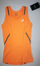 Asics XS Women's X Running Jogging Exercise Tank Top Fizzy Peach Bright Orange