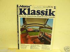 MOTORKLASSIK HEFT 1 1984,PORSCHE 356,BMW 507,300 SL MER