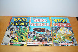 WEIRD SCIENCE Comic Book Lot #1-3 EC Reprints Gladstone 1990 F/VF