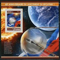 GUINEA 2017  60th  ANNIVERSARY OF THE LAUNCHING OF SPUTNIK S/S  MINT NH