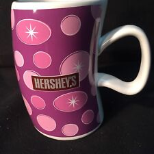 Hershey's Tall Purple Crooked, Curvy LARGE Coffee Mug-Cup Houston Harvest, VGUC