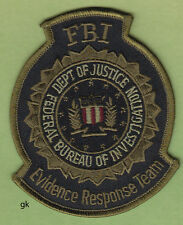 FBI EVIDENCE RESPONSE TEAM  DEPARTMENT OF JUSTICE POLICE  PATCH  (SUBDUED)