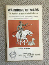 TSR Warriors of Mars - Very Clean - Complete - Blume & Gygax 1974 VERY RARE