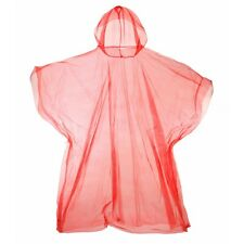 Pocket Poncho Light Rain Coat Waterproof Festival Camping Hiking Hooded Cape