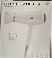 Authentic T3 FeatherWeight Hair Dryer White & Rose Gold Blow Dryer NEW Free Ship