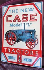 """Case Model """"L"""" Tractor Sign metal tin collector farm advertising USA Sold Here"""
