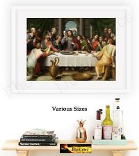 The Last Supper Jesus Pictures Photo Poster Print ONLY wall art Size A4 Prints