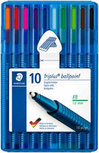 Staedtler Triplus Ballpoint Pen - Extra Broad - Assorted Colors (Wallet of 10)