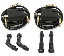 Set of 2 Ignition Coils + Caps Dual Output 4 ohm Kawasaki KZ650 KZ900 KZ1000 Z1