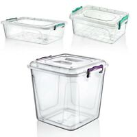 Food Storage Pantry Box Lid Clip Lock Handle Container Meal Carrier