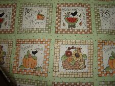 Harvest Thyme small pictures Crow Pumpkin Basket Quilting Cotton Fabric