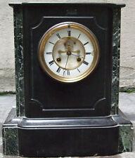 Grande pendule de cheminée LEROY et JAPY Frères en marbre 19e siècle