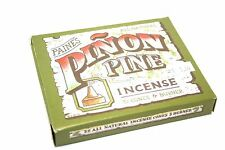 2 packs (64) INCENSE & BURNER Paine's with 32 PINON PINE cones holder campfire