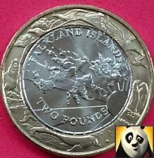 2004 FALKLAND ISLANDS £2 Two Pound Rare Falkland Island 30 Years of Coinage Coin