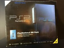 Sony PlayStation 2 PS2 BB Pack Midnight Blue Console Japan Network Adapter HD