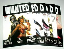 """WANTED 1 2 3 4 5 AND 6 OF 6  SET """"WATCHMEN"""" FOR SUPER-VILLAINS"""