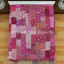 Indian Patchwork Kantha Quilt  Ethnic Vintage Throw Bedding Handmade Bedspread