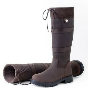 Rhinegold Elite Brooklyn RIDING YARD COUNTRY BOOTS Wide and standard calf