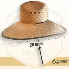 Lifeguard Style Straw Hat - Extra Wide Brim 7 '' - SUPER DEAL!!!