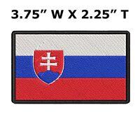 SLOVAKIA FLAG embroidered iron-on PATCH SLOVAK EMBLEM international applique