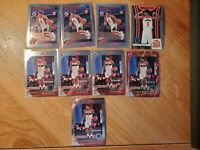 (9) 2019-20 Panini NBA Hoops Premium RUI HACHIMURA RED FLASH PRIZM RC LOT