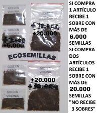 Tabaco Golden Virginia rubio, más de 6000 semillas ecológicas. Compra 2 envío 3