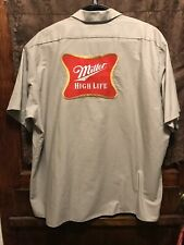 Miller High Life Brewing ~ Mens 3Xl Red Kap Beer Delivery Work Shirt Milwaukee