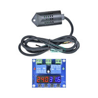 Dual Digital LED XH-M452 DC 12V Temperature & Humidity Control Thermostat +Probe