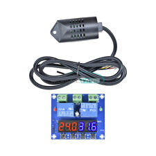 Dual Digital Led Xh M452 Dc 12v Temperature Amp Humidity Control Thermostat Probe