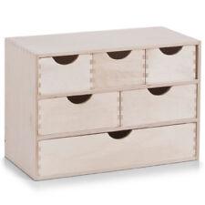 Zeller 13193 Schubladenbox 6-er Birke Aufbewahrungsbox Holzkasten Box 40x20x28