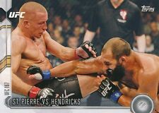 #215 GEORGES ST-PIERRE vs JOHNY HENDRICKS 2015 Topps UFC Chronicles