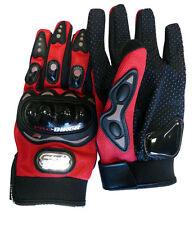 NEW! Carbon Fiber Pro-Biker Bike Motorcycle Motorbike Racing Gloves Full L Red