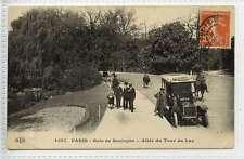 (Lb407-172) Vintage Car at Bois de Boulogne   1910 Used VG+