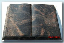 "Grabstein Buch Granit /""Multi Color Red/"" 30 x 20 x 8 cm"