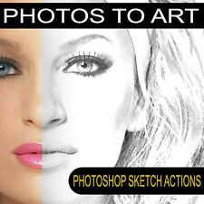 photoshop cs PRO Sketch Actions turn photos in to art plus free photography sets